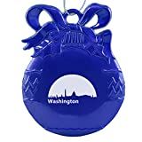 Washington, D.C., Capital of the USA-Christmas Tree Ornament-Blue