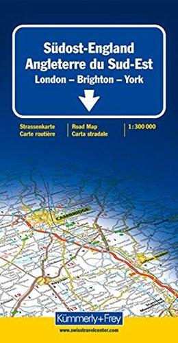 strassenkarte-sudost-england-1-300-000-london-brighton-york-mit-sehenswurdigkeiten-reiseinformatione