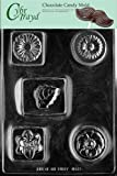 Cybrtrayd M173 Bar with Flowers Miscellaneous Chocolate Candy Mold