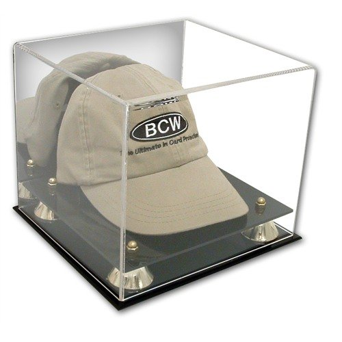 2 Deluxe Cap Display Case with Wall Mount Unit (2 Cases - 2 Brackets) (Clear Hat Display compare prices)