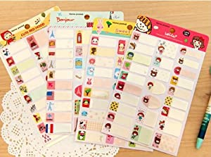 6 Pieces/lot Cute Cartoon Waterproof Name Stickers Diary Stickers Notes Posted