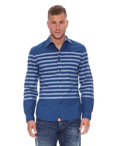 Dockers Camicia Alpha Khaki Breton [Blu]