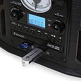 AUNA-NR-620-Impianto-Stereo-Giradischi-Lettore-Vinili-Lettore-CD-USB-SD-Trasmissione-A-Cinghia-Radio-FM-Legno-Nero