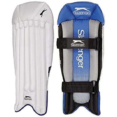 Slazenger Elite wicketkeeping Legguard, Mens (White)
