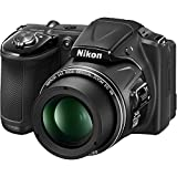 Nikon COOLPIX L830 16 MP CMOS Digital Camera with 34x Zoom NIKKOR Lens and Full 1080p HD Video (Black) (Refurbished)