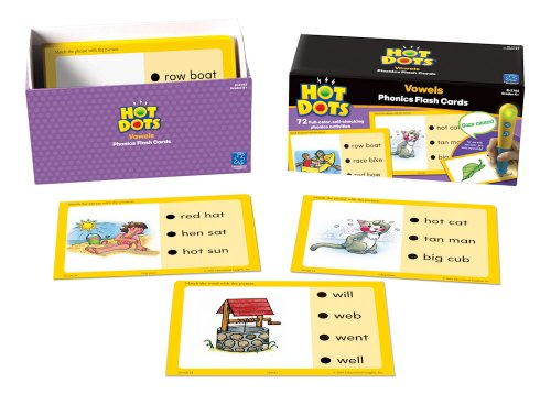 Educational Insights Hot Dots Vowels Flash Cards