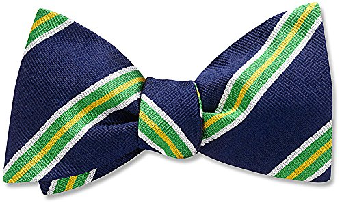 The Causeway, Blue Striped bow tie, by Beau Ties Ltd of Vermont