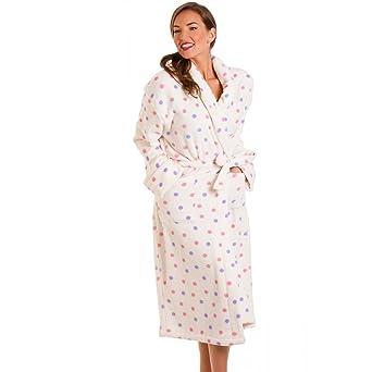 robe de chambre chambre pois femme rose violet 36 38 v tements et et. Black Bedroom Furniture Sets. Home Design Ideas