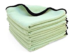 The Guzzler Waffle Weave Towels by Cobra 6 Pack 16 x 24 inches