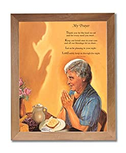Amazon Com Old Woman Praying At Dinner Table Daily Bread