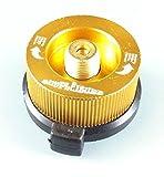 【日本正規販売品】simpleisure カセットガスアダプター(CB缶→OD缶) 家庭用のカセットボンベ(CB缶)でアウトドア用ガス機器等のOD缶用機器を利用できるようにする便利なアダプター ゴールド