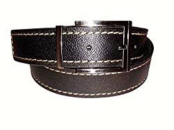 SANSHUL MEN BELT (SA-95 DARK BROWN 30-42 INCH)
