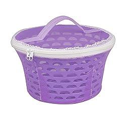 Bagathon India Net Cover Plastic Fruit Basket, 5 Litres [PURPLE]