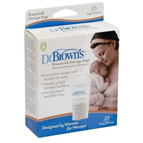 Dr. Brown's Breastmilk Storage Bags, 25 Count (Madela Steamer Bags compare prices)