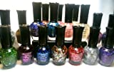 Kleancolor Nail Polish - 16 Glitter Colors with Nail Hardener & Clear