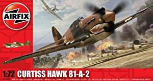 Airfix A01003 Curtiss Hawk 81-A-2 Model Building Kit, 1:72 Scale from Airfix