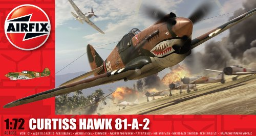 Airfix A01003 Curtiss Hawk 81-A-2 Model Building Kit, 1:72 Scale