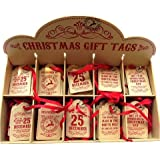 Reindeer Mail Quality Christmas Gift Tags - 10 Tags (2 x 5 Designs) - Size 54mm x 85mm