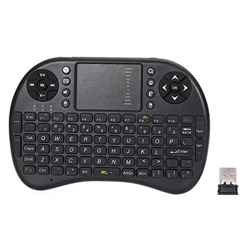 GB-Tech 2.4GHz Wirelesss QWERTY Touchpad Keyboard Mouse with Receiver Black (Refurbished Wii Console Only compare prices)