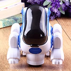 Top Seller Newest Robotic Cute Electronic Walking Pet Dog Puppy Toy with Music Light for Baby Kids