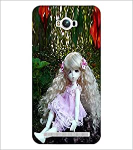 PrintDhaba Long Curly Hair Doll D-1071 Back Case Cover for ASUS ZENFONE MAX ZC550KL (Multi-Coloured)