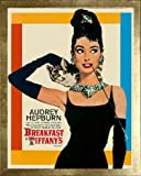 Breakfast at Tiffany's with Audrey Hepburn. Framed Movie Poster. Custom Made Real Wood Modern Scratched Gold Frame (17 1/8 x 21 1/8) Reviews