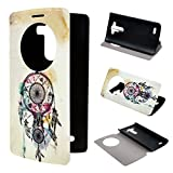 LG G3 Case ivencase View Window Painting Art Dream Catcher Style Design PU Leather Flip Stand Case Cover For LG G3