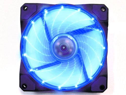 Apevia 120Mm Blue Led Case Fan W/ Anti-Vibration Rubber Pads