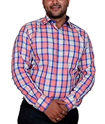 True Men Men's Casual Shirt (Ch_Wbp_Multicolor_X-Large)