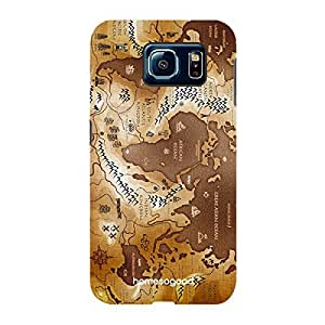 HomeSoGood World Map Brown 3D Mobile Case For Samsung S6 ( Back Cover)