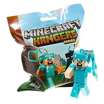 Official Minecraft Exclusive DIAMOND STEVE Toy Action Figure Hanger from MOJANG