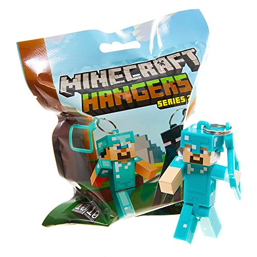Official Minecraft Exclusive DIAMOND STEVE Toy Action Figure Hanger - 1