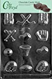 Cybrtrayd S003 Assorted Sports Chocolate Candy Mold with Exclusive Cybrtrayd Copyrighted Chocolate Molding Instructions