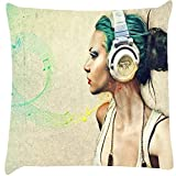 Snoogg Music is chic Digitally Printed Cushion Cover throw pillows 12 x 12 Inch