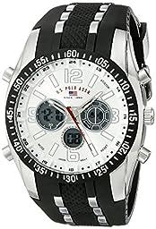 U.S. Polo Assn. Sport Men\'s US9061 Watch with Black Rubber Strap Watch
