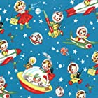 The Pat a Cake Baby Retro Rockets Lovey Blanket