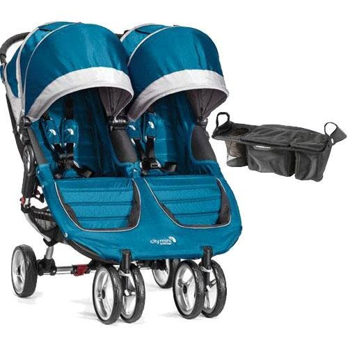 Baby-Jogger-City-Mini-Double-Stroller-with-Parent-Console-Teal-Gray