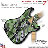 Camouflage Green WraptorSkinz Skin fits Rock Band Stratocaster Guitar for Nintendo Wii, XBOX 360, PS2 & PS3 (GUITAR NOT INCLUDED)