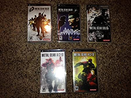 Metal Gear Solid PSP 5 Game Set