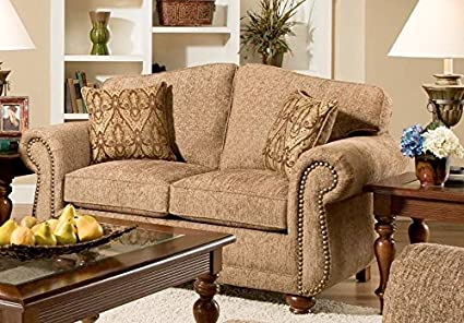 Chelsea Home Furniture Carmella Loveseat, Forever Young Camel
