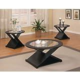 Coaster Home Furnishings 701501 3-Piece Contemporary Living Room Set, Black