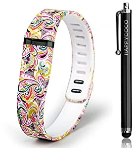 HAPPYCOCO New 2015 USA Fantasy Colorful Flowers Replacement Band with Clasp for Fitbit Flex , Band only no tracker included
