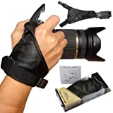 First2savvv OSH0901 Professional Wrist Grip black genuine soft leather hand Strap for Nikon D3100