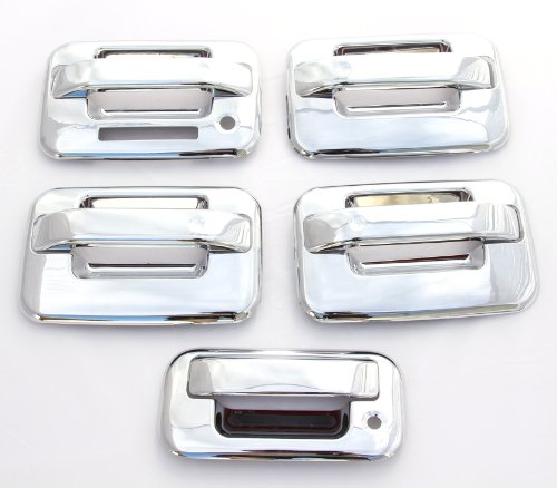2004-2014 Ford F-150 (4 Doors) Chrome Door Handle & Tailgate Covers with keypad & w/o psg keyhole (Door Handle Pad compare prices)