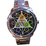 New Legend Of Zelda Triforce Nintendo Famous Game Cube Design Sport Metal Watch Design 2