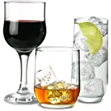 Ravenhead Tulip 12 Piece Party Glasses Set with 4 x Old Fashioned Tumblers, 4 x Hiball Tumblers & 4 x Wine Glasses | Glassware Gift Set