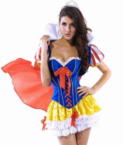 Snow White Princess Burlesque Corset Moulin Rouge Fancy Dress Womens Ladies