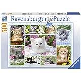 Ravensburger - 14196 - Puzzle Classique - Chatons Dans Leurs Corbeille - 500 Pièces