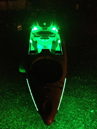 Kayak Paddle or Canoe – Green Fishing LED Light Kit — Lifetime Warranty 9-12v