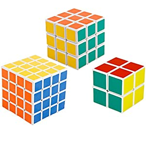 Shengshou Magic Cube Puzzle 4x4x4,3x3x3 and 2x2x2 Magic Cube Set